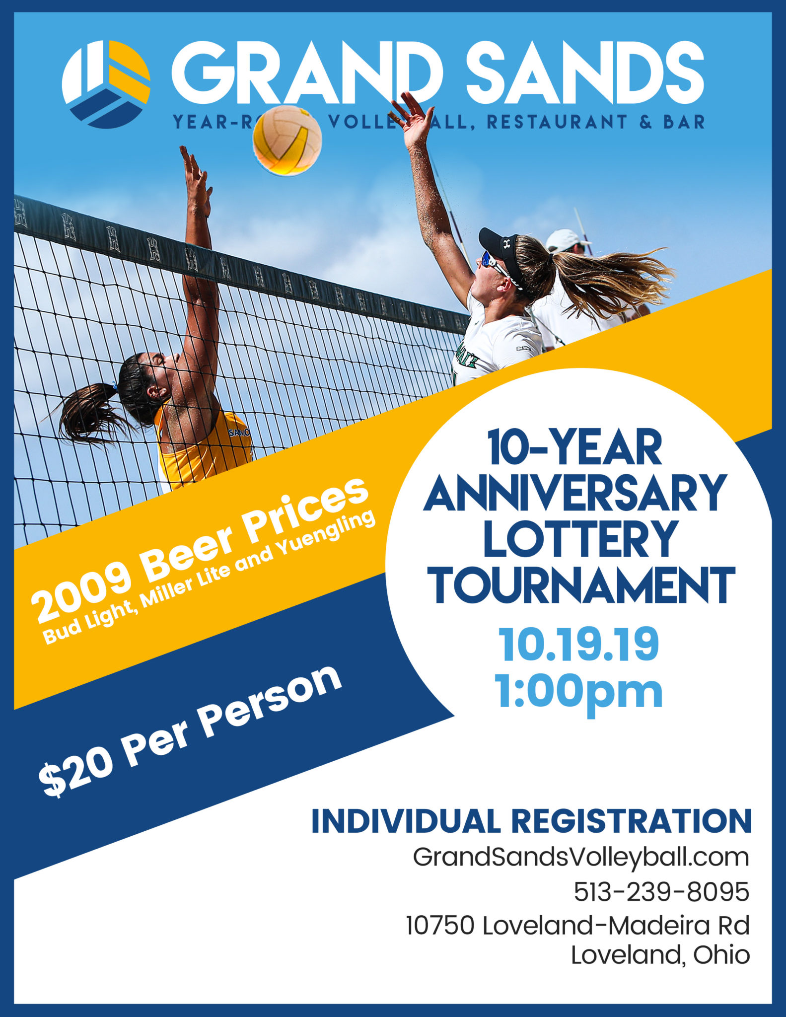 Grand Sands Volleyball 10 Year Anniversary Lottery Tourney